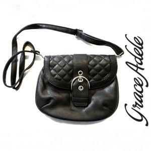 {BOGO} Grace Adele Black Quilted Mini Bag